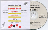 RONNIE ROSS QUINTET Stompin' With UK 10-trk promo test CD Ember