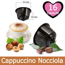16 Capsule Caffè Kickkick Cappuccino Nocciola Compatibili NESCAFE' DOLCE GUSTO