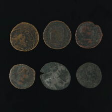 Ancient Coins Roman Artifacts Figural Mixed Lot of 6 B6238