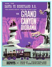"DISNEY POSTER - SANTA FE RAILROAD GRAND CANYON 8.5"" x 11"""
