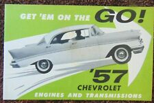 1957 Chevrolet New Model Intro Salesman's Brochure Original
