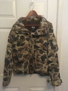 Vintage camo Columbia duck hunting jacket. Gore-Tex, Thinsulate