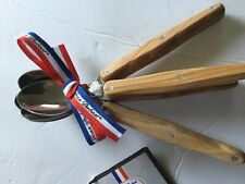 LAGUIOLE-APPETIZER FORKS, COCKTAIL Spoons SET OF 4, olive wood new