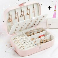 Earring Ring Jewelry Display Storage Box Case Organizer Flannel Tray Holder UK