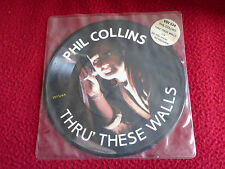 Rare PHIL COLLINS THRU' THESE WALLS 45t 7'' Picture Disc 1982 limited edition