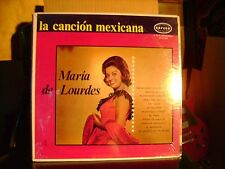 ORIG SEALED MEX LATIN LP~MARIA DE LOURDES~LA CANCION MEXICANA~NADA GANO &~HEAR