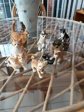 More details for job lot of 6 cat/kitten ornaments sherratt & simpson/country artists/rspca