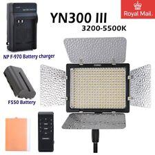 YONGNUO Yn300 II 3200-5500k Pro LED Studio Light 2200mah Battery Charger UK