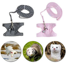 1x Ferret Harness Leash Chest Strap Vest Lead Rope For Hamster,Rabbit Cute