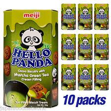 MEIJI Hello Panda Green Tea Matcha Biscuits 50g x 10 pack