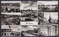 AK Flensburg ZOB 1960, Dt. Haus, Nodermarkt,Rude, 9 Ansichten, mit WS gel.