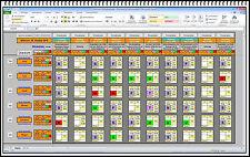 Eelektronischer Excel Monatsplaner Dienstplan Einsatzplaner mit Lohnabrechnung