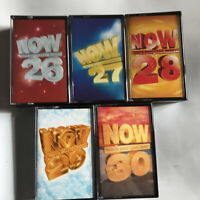 5 Now That's What I Call Music Cassettes Bundle 26-30 27 28 29 /  Lot Tape Tapes