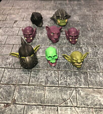 Mythic Legions mixed head lot - 8 heads
