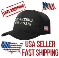 Embroidered 'Make America Great Again' MAGA Trump Slogan Hat in Black