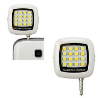 16 LED Flash Torche Photo Mini jack 3.5mm pour Smartphone Tablette /  iPad / WH