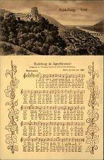 Heidelberg s/w AK ~1920/30 Totale mit Burg Liedtext Heidelberg du Jugendbrunnen