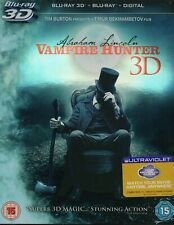 ABRAHAM LINCOLN VAMPIRE HUNTER (3D + 2D) - With Slipcover Blu-Ray *NEW & SEALED*