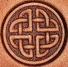 3D ROUND CELTIC KNOT LEATHER STAMP 853700 Stamping Tandy Tool Stamps Craft Tools