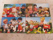 """4 Lovely Vintage 1970's Bamforth """"PUPPET"""" series Postcards - unused"""
