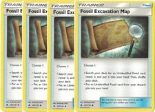 4x Fossil Excavation Map 107/131 - NM Pokemon Forbidden Light Trainer