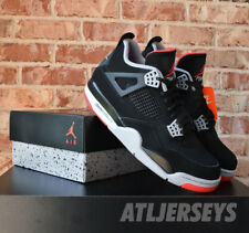 the latest 17b52 36f24 2019 Nike Air Jordan 4 Retro OG BRED Black Red Cement Grey Men s GS Size 4Y