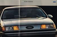 Big 1989 Ford TAURUS Brochure / Catalog: L,GL,LX,SHO,Station Wagon