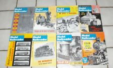1959 8 Issues Model Railroader Magazines Nice Issues with 25th Anniversary Issue