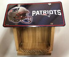 New England Patriots License Plate Bird Feeder