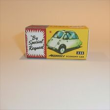 Corgi Toys  233 Heinkel Economy Car empty Reproduction Box