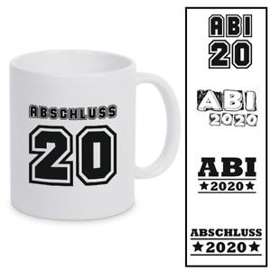 """Tasse """"Abi/Abschluss 2020"""", Keramik, Abitur, weiß, spülmaschinenfest"""