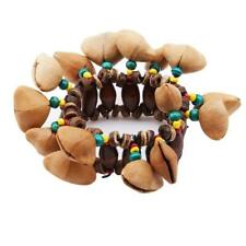 Nut Shell Hand Chain Percussion Bracelet African Drum Handbell Gift Ys
