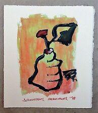 "Milionis ""PEAR"" Signed Unique Single Giclee Print Greek Artist Painter 1998"