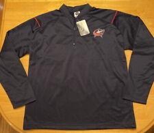 NHL Hockey Columbus Blue Jackets CBJ On Ice Jacket 1/4 Zip Pullover Size 2XL