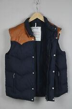 MILLET Men's 2 or ~M-L 100% Leather Shoulder Yoke Down Filled Waistcoat 21100-JS