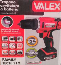 TRAPANO AVVITATORE A BATTERIA LITIO 12V FAMILY-TECH 112 VALEX 1429400 LUCE LED