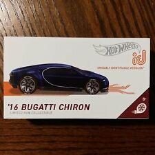 Hot Wheels ID HBG00 Bugatti Chiron Vehicle - Blue