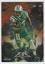PERCY HARVIN 2014 Topps Fire Football Flame Foil Parallel Card #16 Jets