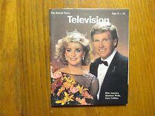 Sept. 8, 1985 Detroit News Television Mag(MISS USA SHARLENE  WELLS/GARY COLLINS)