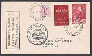 BELGIUM ANTARCTIC 1961 cover - Sth Pole Expedition signed K V Blaiklock.....M846