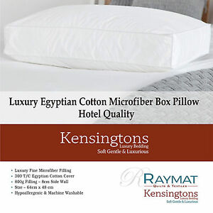 Kensingtons® Luxury Microfibre Square Edge Wall Bed Pillows Soft and Breathable