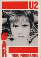 U2 1983 WAR TOUR CONCERT POSTER PROGRAM BOOK BOOKLET / BONO / THE EDGE / NMT