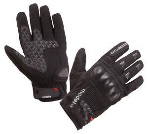 MODEKA Fuego sportliche Motorradhandschuhe schwarz Gr. 12 = 3XL Sommerhandschuhe