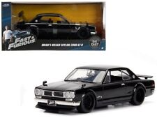 Fast & Furious Brian's 2000 Nissan Skyline GT-R Diecast 1:24 Jada 7.5 inch Black