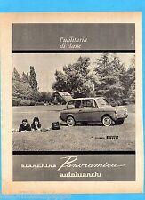 QUATTROR961-PUBBLICITA'/ADVERTISING-1961- AUTOBIANCHI - BIANCHINA PANORAMICA (A)