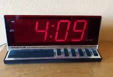 Vintage Spartus 1150 Electronic Digital Clock Red LED Alarm Clock/Large Display