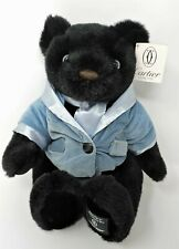 """Cartier Lunettes Teddy Bear Petit Pierre Plush Jointed 16"""" Black 2000 Limited"""