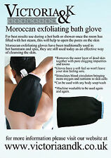 JOB LOT 10 X MOROCCAN HAMMAM KESSA EXFOLIATING GLOVES BLACK