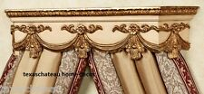 ANTIQUE CREAM & GOLD BED CROWN FRENCH REGENCY WALL CANOPY VINTAGE STYLE NEW