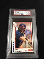 1992 McDonald's Indians Fan Club Jim Thome RC PSA 6/Auto 7 Pop 1/ 0 higher! HOF!